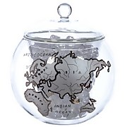 Product image of Globe Ice Bucket with Silver Map from Iwantoneofthose.com UK