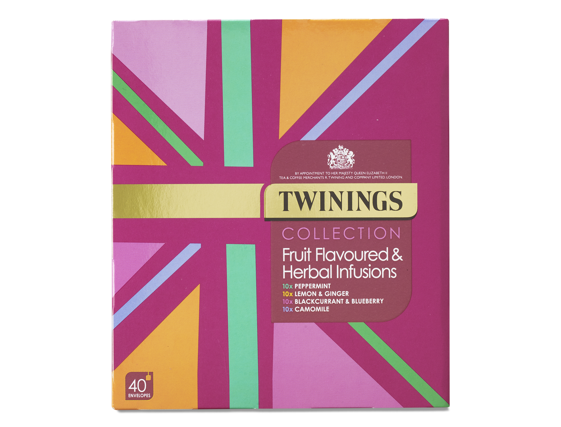Product image of Twinings Collection Fruit Flavoured & Herbal Infusions - 40 Envelopes from Twinings Teashop