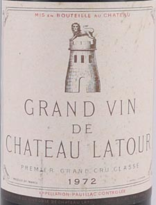 Product image of 1972 Chateau Latour 1972 1er Grand Cru Classe Pauillac from Vintage Wine Gifts