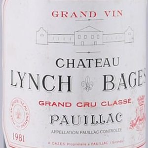 Product image of 1981 Chateau Lynch Bages 1981 Grand Cru Classe St Julien from Vintage Wine Gifts