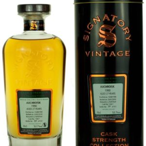 Product image of Auchroisk 27 Year Old 1990 Signatory Cask Strength from The Whisky Barrel