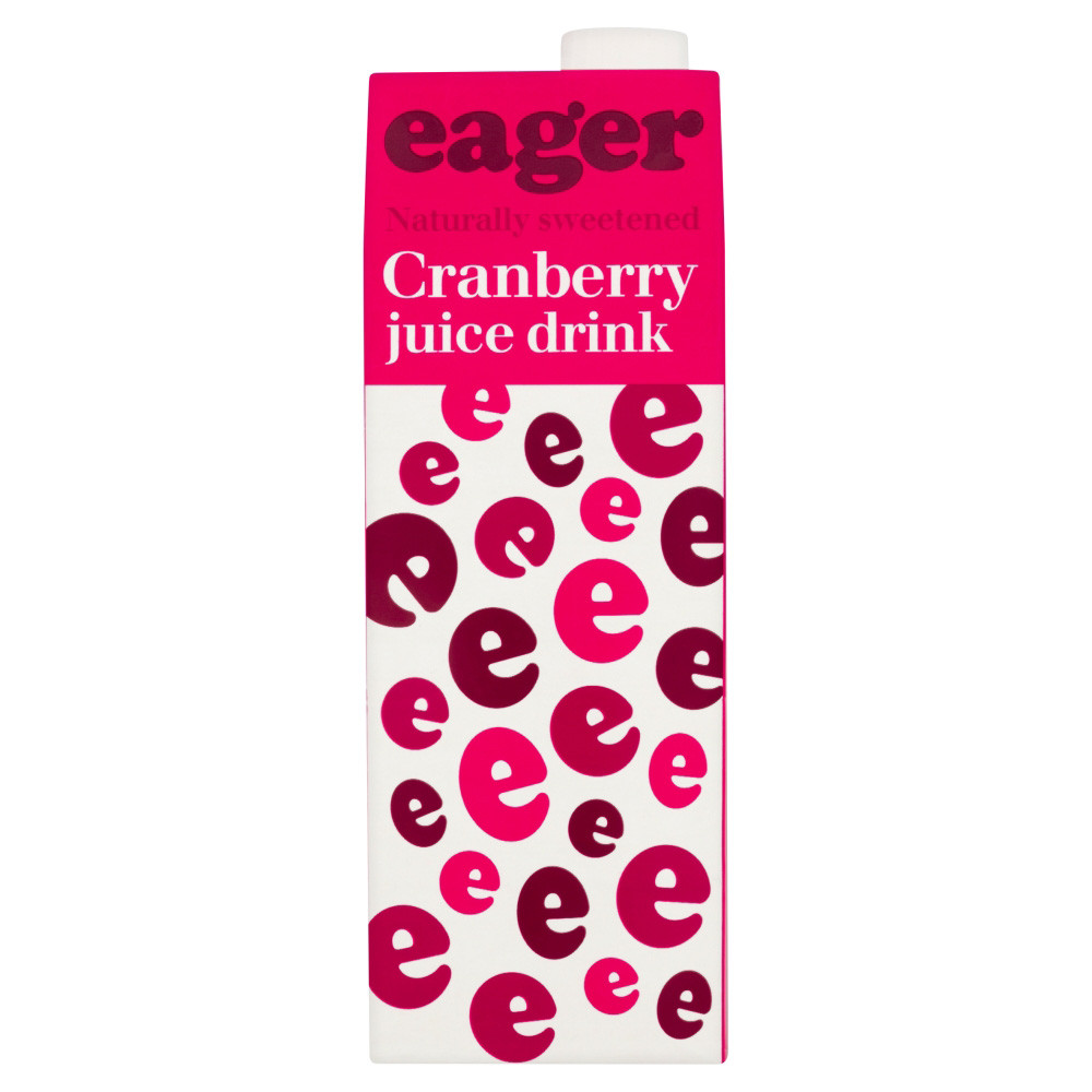 Product image of Eager Cranberry Juice 8x 1Ltr from DrinkSupermarket.com