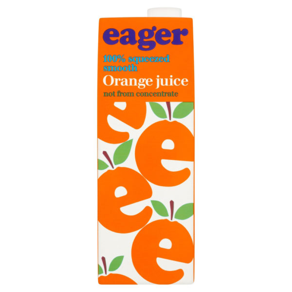 Product image of Eager Orange Smooth Juice 8x 1Ltr from DrinkSupermarket.com