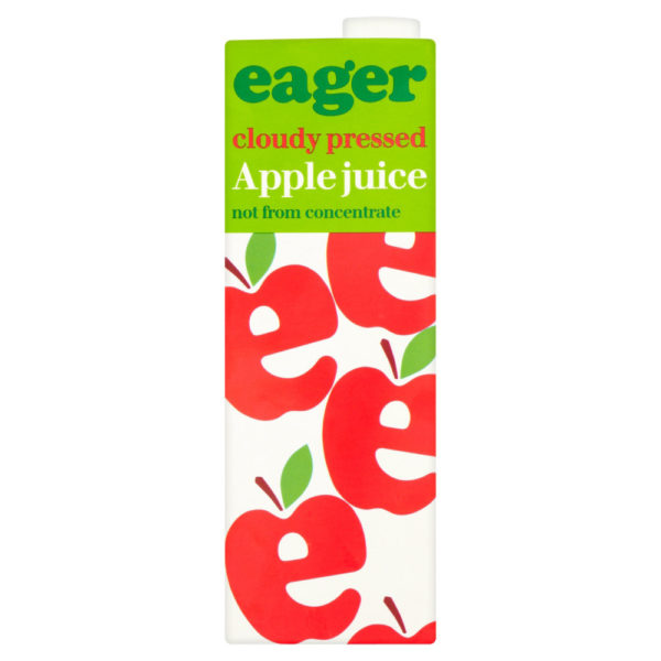 Product image of Eager Pressed Cloudy Apple Juice 8x 1Ltr from DrinkSupermarket.com