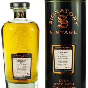 Product image of Fettercairn 21 Year Old 1997 Signatory Cask Strength from The Whisky Barrel