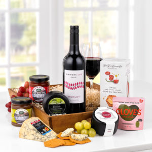 Product image of Gourmet Delights Cheese & Wine Hamper from Interflora