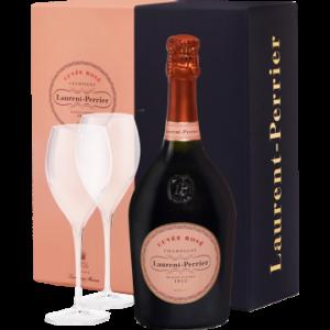 Product image of CHAMPAGNE LAURENT-PERRIER - BRUT ROSE - EN GIFT SET 2 CHAMPAGNE FLUTES 2019 from Vinatis UK