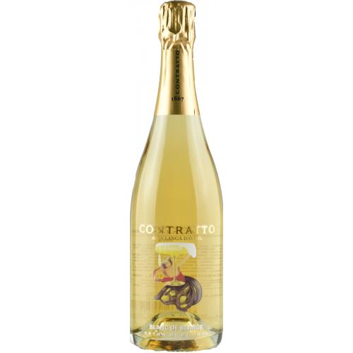 Product image of Contratto Blanc de Blancs Extra Brut 2015 from Drinks&Co UK