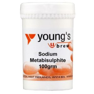 Product image of Youngs 100g Sodium Metabisulphite from Philip Morris & Son