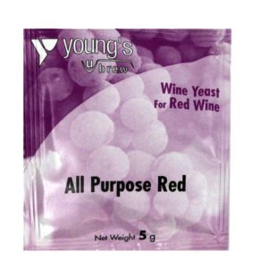 Product image of Youngs 5g All Purpose Red Wine Yeast Sachet from Philip Morris & Son