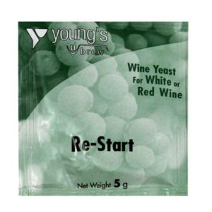 Product image of Youngs 5g Re-Start Wine Yeast Sachet from Philip Morris & Son
