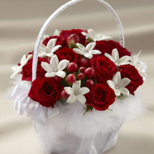 Product image of Love and Purity Flower Gift Basket from Interflora