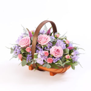 Product image of Mixed Basket - Pink and Lilac from Interflora