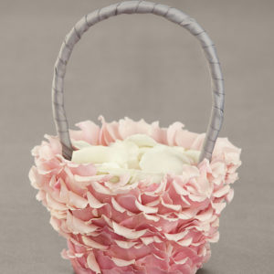 Product image of Pink Petal Flower Girl Basket from Interflora